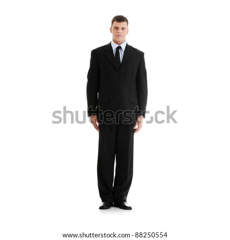 Full portrait of businessman, isolated