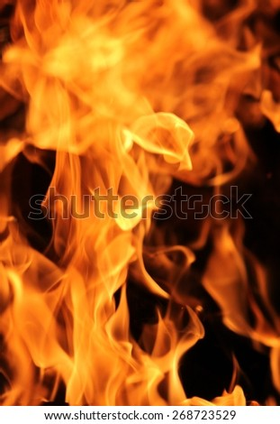 full screen of fire and flames background - stock photo