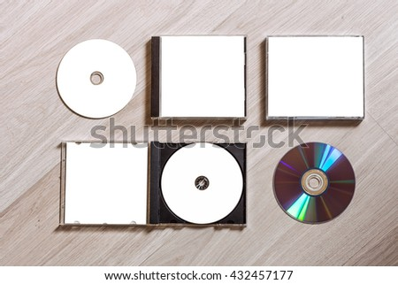 full set compact disc template plastic stock photo 432457177 shutterstock. Black Bedroom Furniture Sets. Home Design Ideas