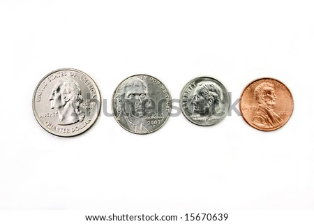Full set of 2007 american coins - stock photo