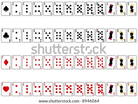full set of playing cards - stock photo