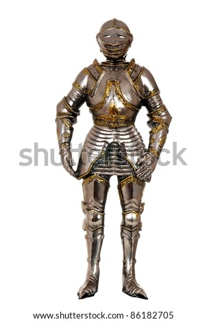 full suit of Armour - stock photo