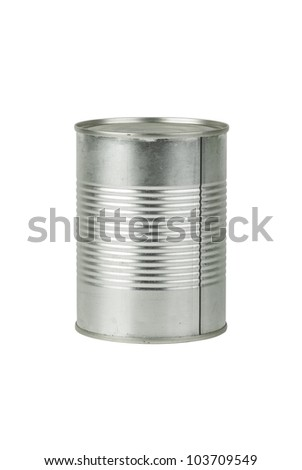 Full tin can  isolated on the white background - stock photo