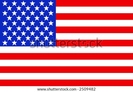 Full view of the American flag. - stock photo