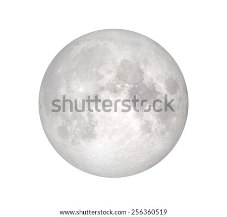 """full white moon """"Elements of this image furnished by NASA """" - stock photo"""