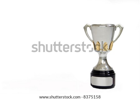fully isolated trophy - stock photo