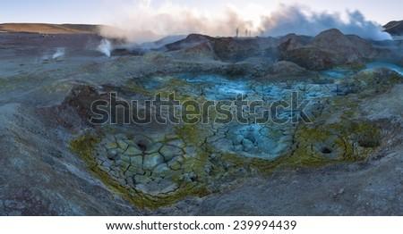 Fumarole in Uyuni, Bolivia - stock photo
