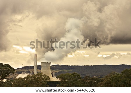 fumes and pollution - stock photo