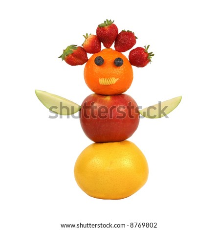 fun abstract using different fruits - stock photo