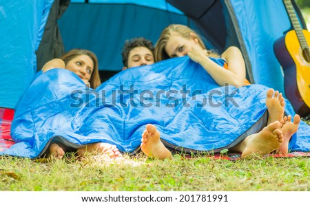 fun and camping - stock photo