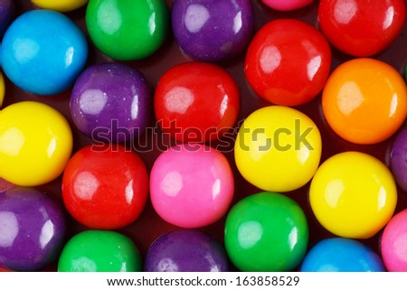 Fun and colorful gumball or bubble gum background - stock photo