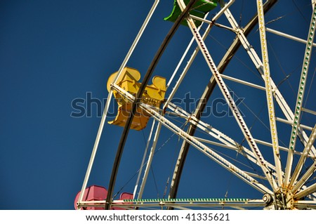 Fun and Exciting day at the Carnival on the Ferris Wheel - stock photo