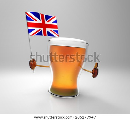 Fun beer - stock photo