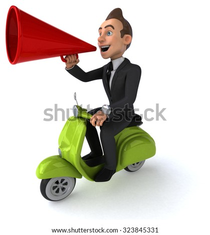 Fun businessman - stock photo