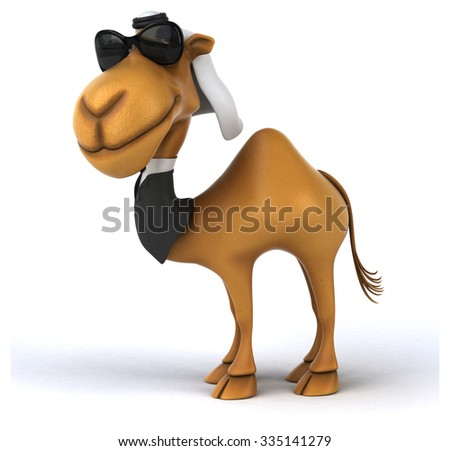 Fun camel - stock photo