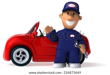 Fun car - stock photo