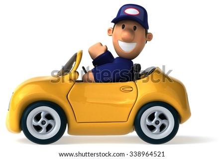 Fun car - stock photo