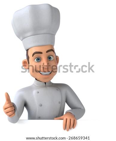 Fun chef - stock photo