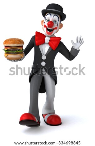 Fun clown - stock photo