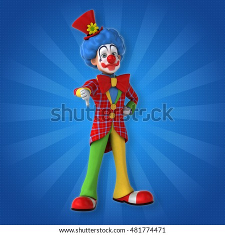 Fun clown - 3D Illustration