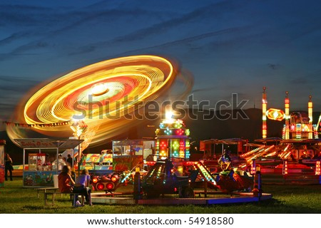 Fun fair - stock photo