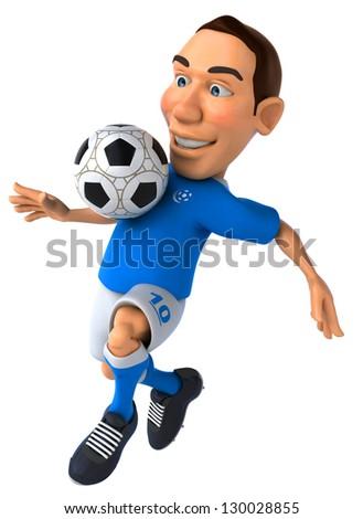 Fun football player - stock photo