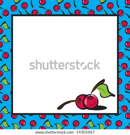 Fun Fruits cherry page layout in JPEG/TIFF format. (Image ID for vector version: 14214340) - stock photo