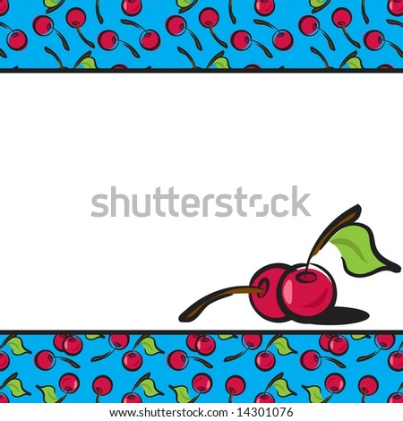 Fun Fruits cherry page layout in JPEG/TIFF format. (Image ID for vector version: 14214346) - stock photo