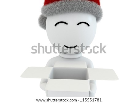 fun gift in christmas - stock photo