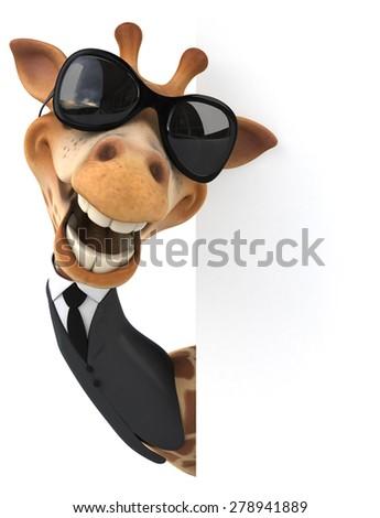 Fun giraffe - stock photo