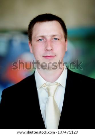 fun groom - stock photo