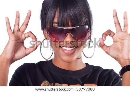 fun indian girl - stock photo
