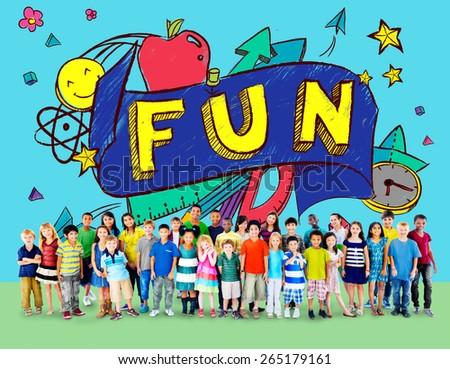 Fun Joy Smiley Stationery Education Concept - stock photo