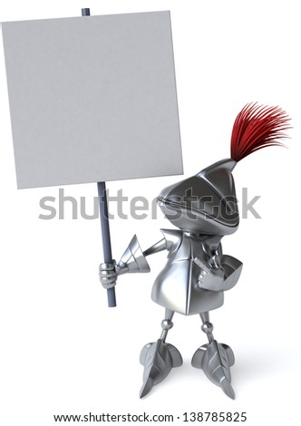 Fun knight - stock photo