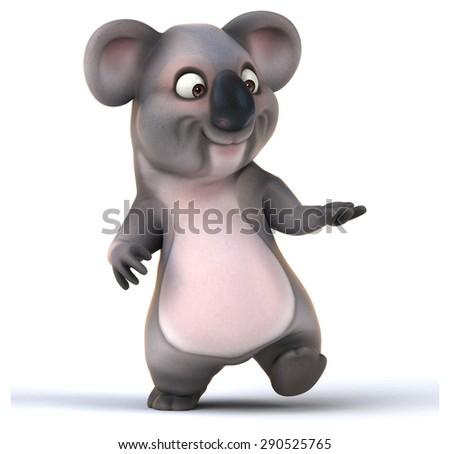 Fun koala - stock photo