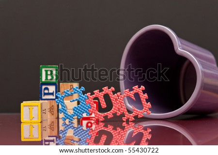 Fun Learning to Spell - stock photo