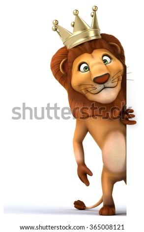 Fun lion - stock photo