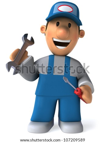 Fun mechanic - stock photo