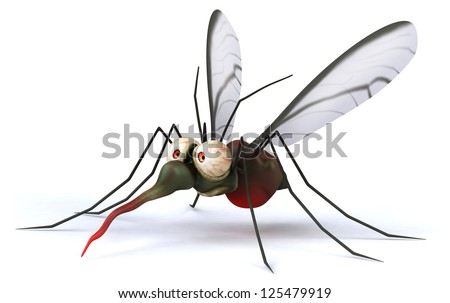 Fun mosquito - stock photo