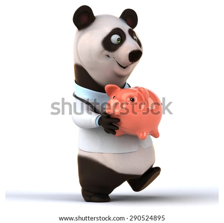 Fun panda - stock photo