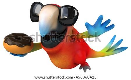 Fun parrot - stock photo