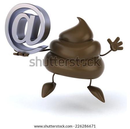 Fun poop - stock photo
