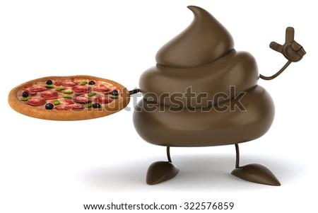 Fun poop - stock photo