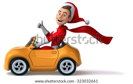 Fun Santa Claus - stock photo