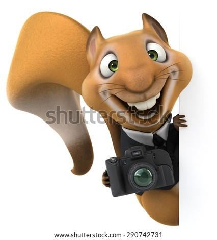 Fun squirrel - stock photo