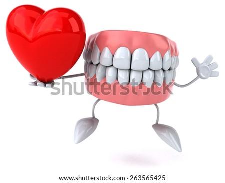 Fun teeth - stock photo