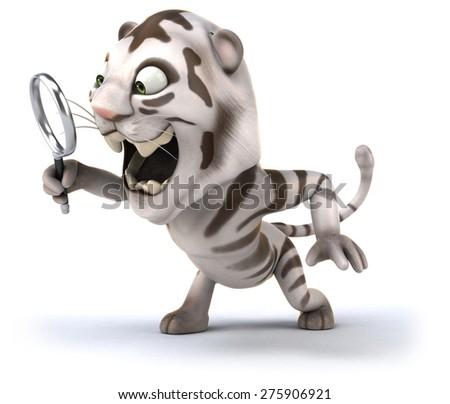 Fun tiger - stock photo