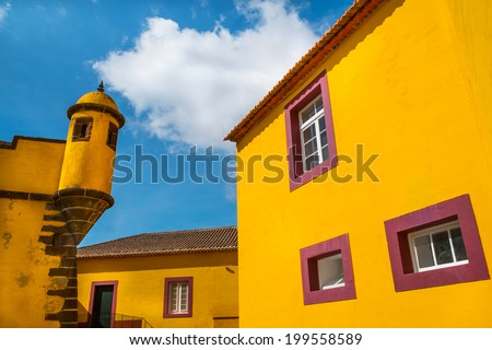 Funchal City Old Fort, Island of Madeira - stock photo