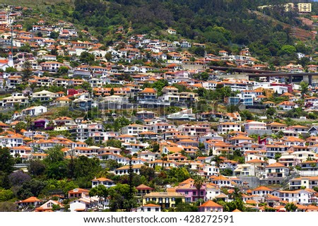 Funchal in Madeira Island, Portugal - stock photo