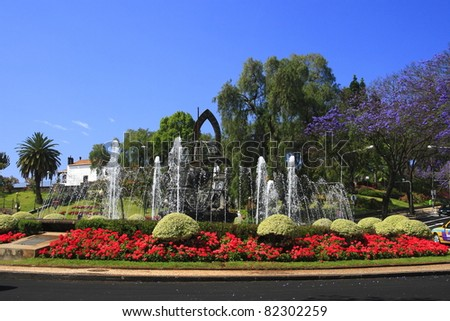 Funchal is the capital of Madeira Island - stock photo